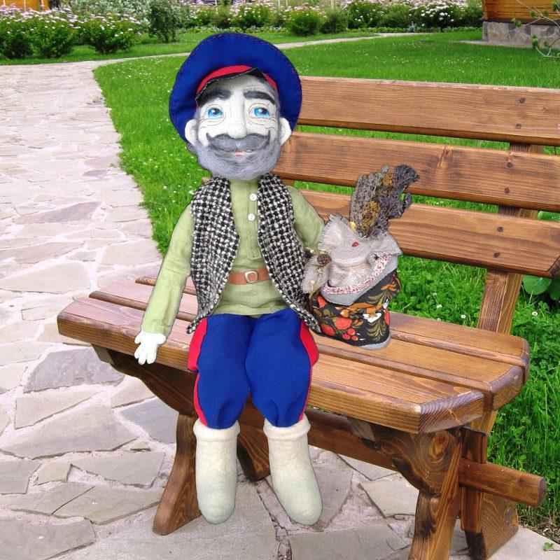 Фото Текстильная кукла Дед Нехай - Символ Нехаевского района