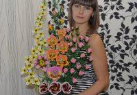 Власова Елена, 33 года. г. Котельниково. Букет из ткани Мой край родной, люблю цветов твое разнообразие!