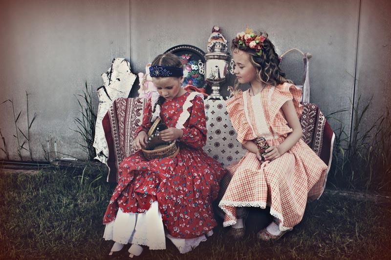 Первые порывы в шитье были опробованы на куклах